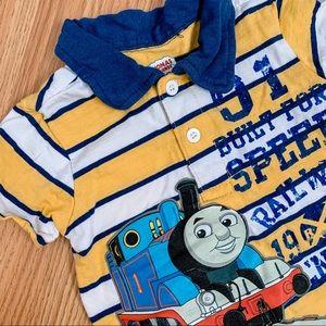 Thomas & Friends • Graphic Striped Polo Shirt